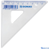 DONAU Műanyag háromszög vonalzó 45 fokos