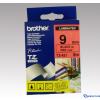 Brother 9 mm-es szalag piros alap/fekete betű