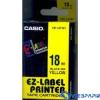 Casio 18mm x 8m szalag sárga-fekete