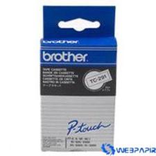 Brother 9 mm-es szalag fehér alap/fekete betű címkézőgép
