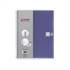 MIQUELRIUS Note Book 4 spirálfüzet, műanyag borítós, A5, kockás, kék