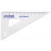 DONAU Műanyag háromszög vonalzó 60 fokos 12 cm