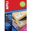 APLI 2 pályás Super Sticky etikett, 105 x 37 mm, 1600 etikett/csomag