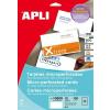 APLI Mikroperforált névjegykártya 90x50,8 mm 200gr
