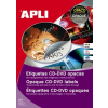 APLI CD/DVD-címke, külső átmérő 114 mm, belső átmérő 41 mm