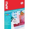 APLI Ültetőkártya, 180 x 125 mm, mikroferforált, 20 db/csomag