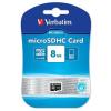 Verbatim Micro SecureDigital memóriakártya 8GB class 10 (SDHC fogl)
