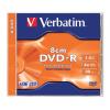 Verbatim DVD-R 8 cm, 1,4 GB, 4x, normál tokban