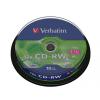 Verbatim CD-RW 700MB, 8-10x, újraírható, hengeren