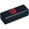 interBär interBär világítós 2 pólusú zsínórkapcsoló 10A 250 V/AC fekete (piros)