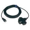 Conrad SIROX Hálózati hosszabbító 3m IP44 fekete 3 részes H07RN-F 3 G 1 5 mm²
