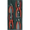 Knipex 6 részes. Belső/külső Seeger-gyűrű fogókészlet KNIPEX 00 20 01 V02