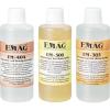 EMAG Ultrahangos tisztító folyadék, Emag próba készlet 3 részes, műhelybe, 100-100 ml-es flakon (porlasztó- és öntvénytisztító, nyáklaptisztító, speciális koncentrátum)