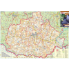 Stiefel Eurocart Kft. Baranya megye térképe, tűzhető, keretes
