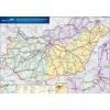 Stiefel Eurocart Kft. Magyarország vasúti árufuvarozási térképe írható-törölhető-tűzhető keretes