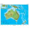 Stiefel Eurocart Kft. Ausztrália és Óceánia domborzata   vaktérkép DUO