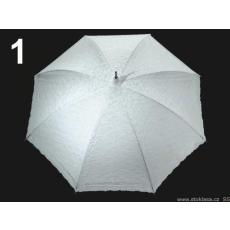 Menyasszonyi esernyőbotfogantyús csipkével