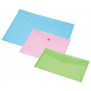 PANTA PLAST Irattartó tasak, A4, pasztell rózsaszín, patentos
