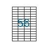 VICTORIA 4 pályás etikett, 52,5x21,2 mm, 5600 etikett/csom ag