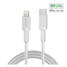 4smarts RapidCord Type-C - lightning adatkábel fehér, 1m kábel és adapter