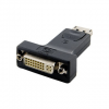 4world Adapter DisplayPort [M] > DVI-I [F] (24+5)  fekete