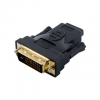 4world Adapter DVI-D [M] (24+1) > HDMI [F], fekete