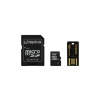 Kingston MicroSD 16GB CL10 + 2 adapter +USB olvasó