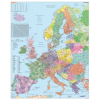 Stiefel Eurocart Kft. Európa irányítószámos térképe (nemzetközi), tűzhető, keretes