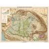 Stiefel Eurocart Kft. Magyarország hegy- és vízrajzi térképe fakeretben