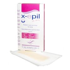 X-EPIL Be Sexy Body Hideggyanta csík 12 db női szőrtelenítés