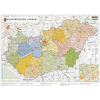 Stiefel Eurocart Kft. !Magyarország járástérképe, matt fóliás-faléces változat