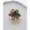 Színes üvegvirág gyűrű  (állítható )  + AJÁNDÉK DÍSZDOBOZ