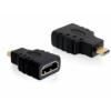 DELOCK Adapter High Speed HDMI - mirco D male > A female