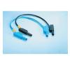 MultiContact SLK 425 E-PVC 1000V-ig szigetelt, 4 mm-es egymásba rakható, toldható dugóval ellátott, 50cm hosszú sárga színű biztonsági mérővezeték, mérőkábel mérőműszer