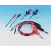 SKS Hirschmann PMS 0,64 SMD technológiában is használható 1000mm hosszú, többfunkciós fekete-piros mérőkábel készlet, mérőzsinór készlet, műszerzsinór készlet