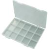 Conrad 15 részes alkatrésztároló doboz, fehér, 285 x 209 x 23 mm