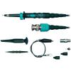 Testec MF 312 CAT I 600V-ig szigetelt 20/250 MHz-ig átkapcsolható moduláris mérőfej 1,2m hosszú 1:1/10:1 osztású BNC csatlakozós oszcilloszkóp mérőzsinór, mérőkábel, kiegészítő krokodil és griff csipesszel