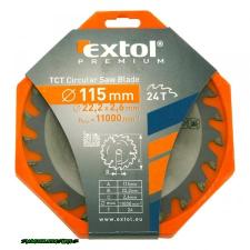 körfűrészlap, keményfémlapkás, 115×22,2mm(lyuk átm), T24; 2,6mm lapkaszélesség, max. 11000 ford/perc