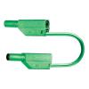 MultiContact SLK 425 E-PVC 1000V-ig szigetelt, 4 mm-es egymásba rakható, toldható dugóval ellátott, 100 cm hosszú zöld színű biztonsági mérővezeték, mérőkábel