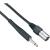 Paccs Paccs mikrofonkábel XLR apa/ 6,3 jack dugó, 5 m, fekete