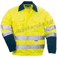 Coverguard Patrol kabát sárga/kék, rejtett gombolás, három zseb, hat darab 3M-es csík