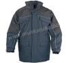 Coverguard RIPSTOP sötétkék/fekete kabát, szakadásbiztos anyag, polárbélés munkaruha