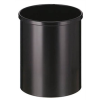 VEPA BINS Nyitott tetejű szemetes, fém, 15 l, VEPA BINS, fekete