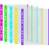 DONAU Genotherm, lefűzhető, színes szélű, A4, 40 mikron, narancsos felület, DONAU, lila