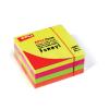 APLI Öntapadó jegyzettömb, 75x75 mm, 400 lap, APLI, neon