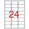 APLI Etikett, univerzális, 64x33,9 mm, kerekített sarkú, APLI, 2400 etikett/csomag