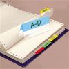 Jelölő ikercímke, műanyag, kétoldalas, 4x6 lap, 12x40 mm, 3L vegyes