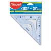 MAPED Háromszög vonalzó, műanyag, 45°, 21 cm, MAPED
