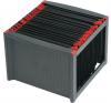 HELIT Függőmappa tároló, műanyag, HELIT, fekete-piros mappa