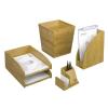 REXEL Írószer- és jegyzettömbtartó, bambusz, REXEL